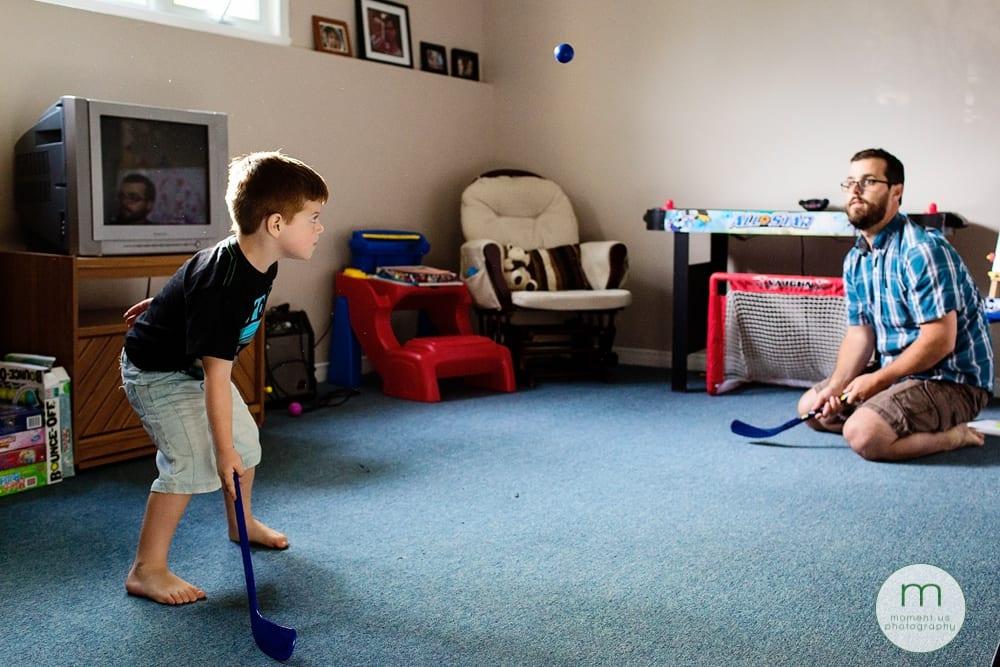 Cornwall Documentary Family Photography - ball hockey