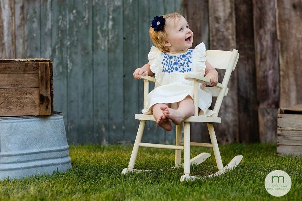 Cornwall child on rocking chair