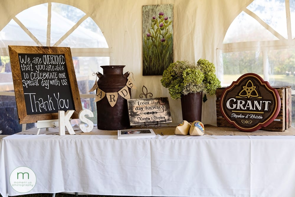 Cornwall rustic country wedding guest sign in table