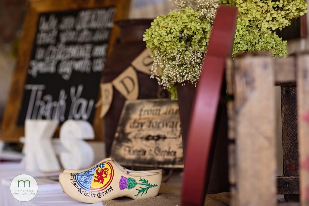 Clogs at Cornwall rustic country wedding
