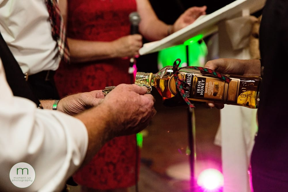 Cornwall Rustic Country Wedding - drinking from the quaich