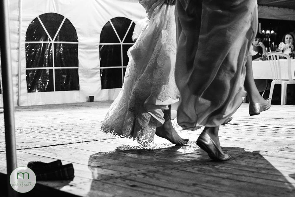 Cornwall Rustic Country Wedding - girls doing highland dancing