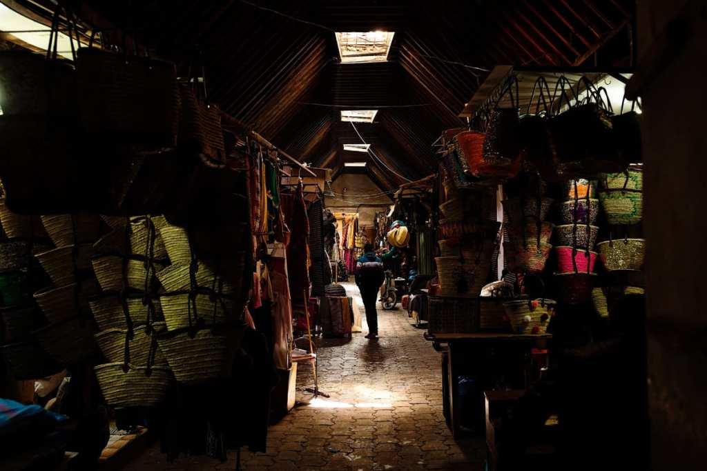 Wedding photographer in Morocco - shadowy medina alley