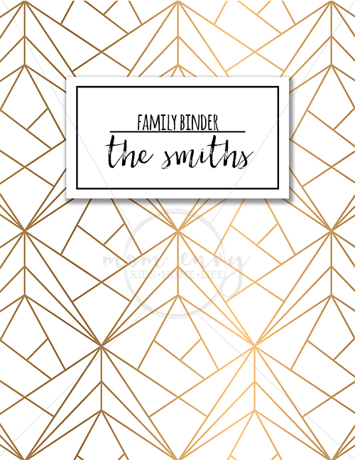Family Binder Covers - Free Planner Covers  Family Binder Covers