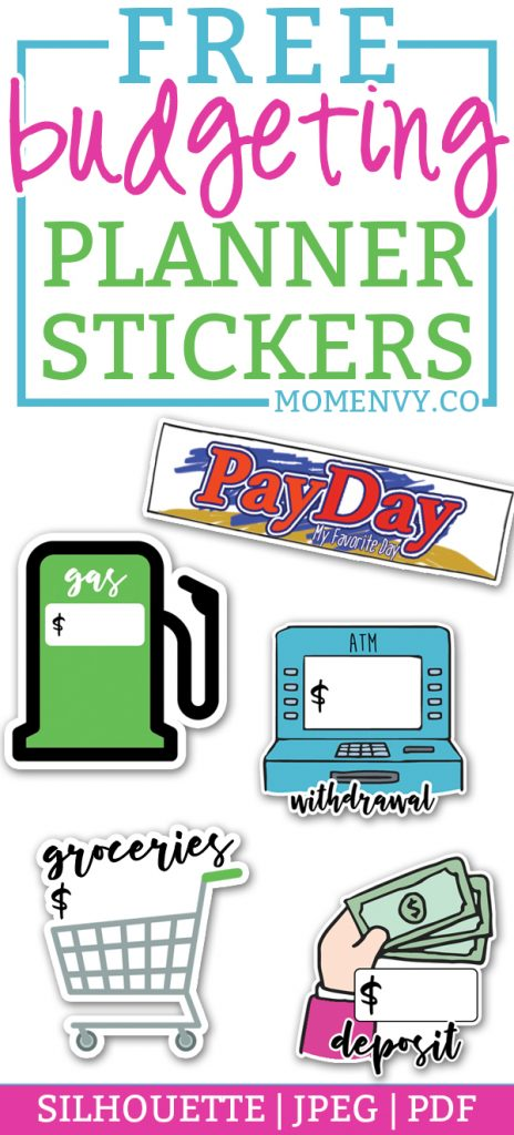 Free Budget Planner Stickers - 11 Printable Pages of Budgeting Stickers