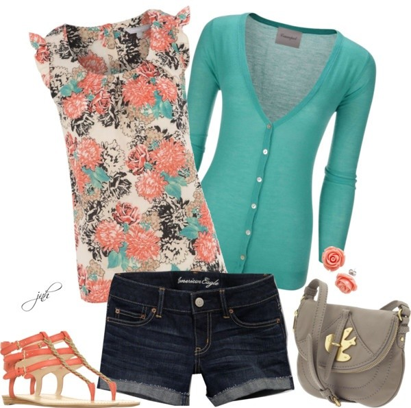 Coral and Teal Trend 04