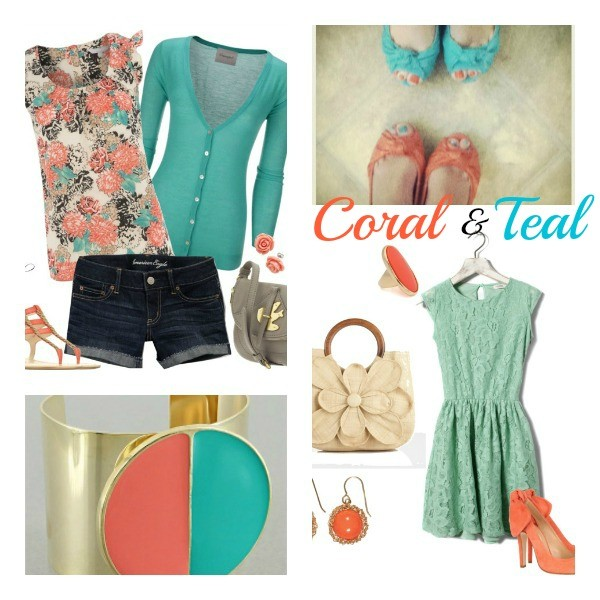 Coral and teal Trend