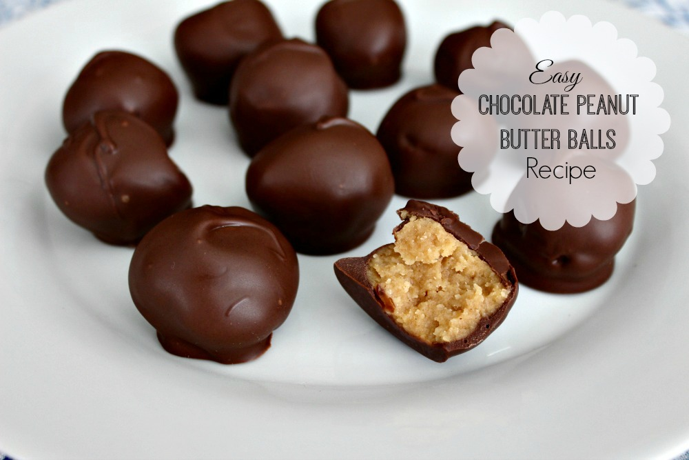 Easy chocolate peanut butter balls recipe for Simple peanut butter dessert recipes