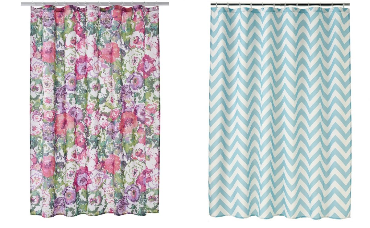 Kohls Com Shower Curtains Kohl S Cardholders Home Classics Chevron Fabric Shower Curtain