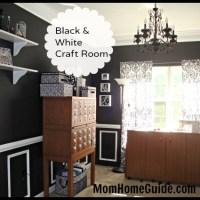 Black and White Craft Room Design
