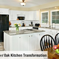 Budget Oak Kitchen Remodel & Giveaway!