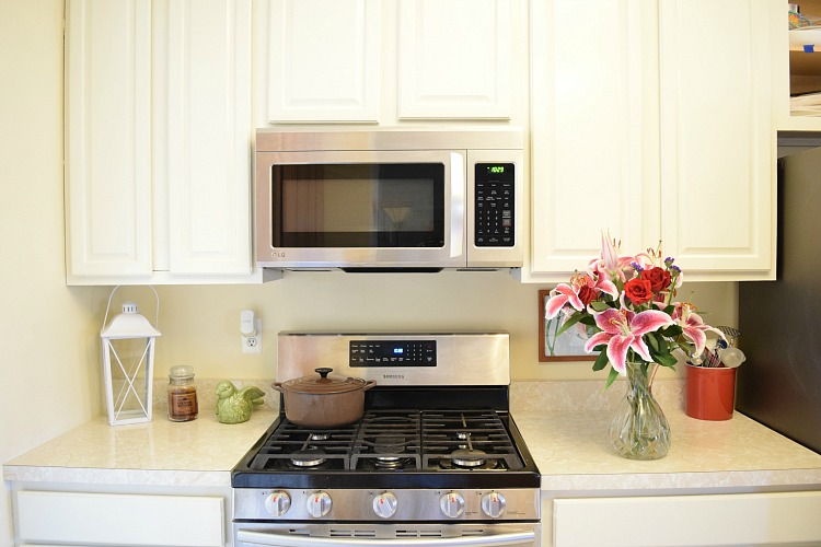 White Painted Oak Kitchen Cabinets Reveal Momhomeguidecom