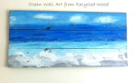 Ocean Wall Art from Recycled Wood - Mom in Music City
