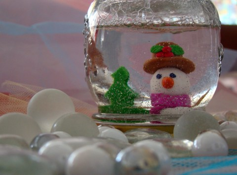 Jar Snow Globe Craft Craft To Make For Mother Day