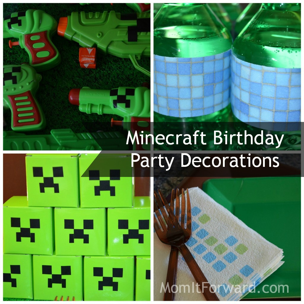 Birthday Supplies Supplies Minecraft Party Supplies