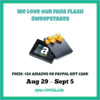 We Love Our Fans Flash Sweepstakes