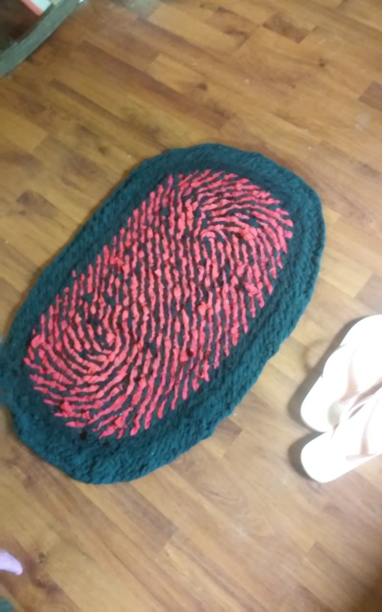 Simple Diy Weaved T Shirt Rag Rug Momlette39s Diy
