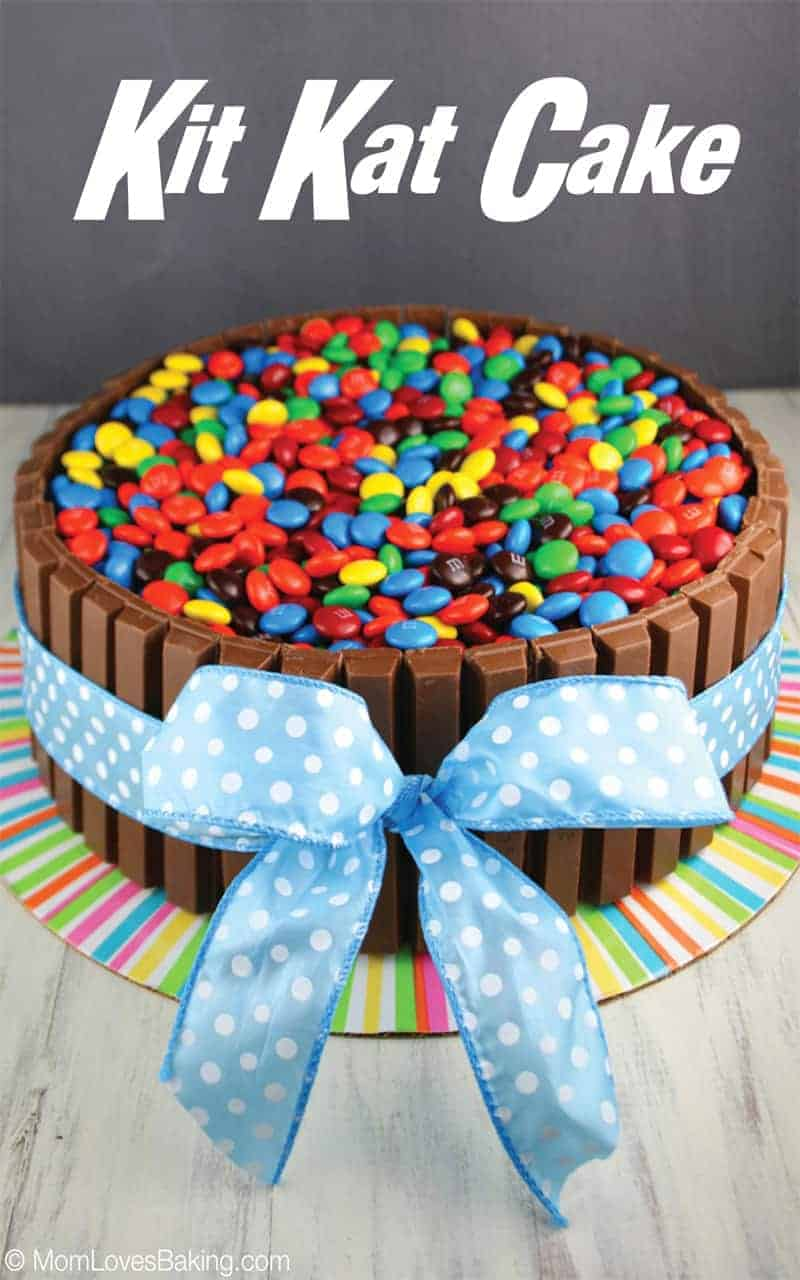 Kitkat Kuchen Mit Smarties Kit Kat Cake Mom Loves Baking