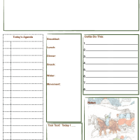 Free Printable Daily Planner Page for Winter Holidays with Doodle Spot