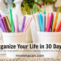 Organize Your Life In 30 Days - Try Not To Laugh- It Can Happen