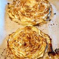 Roasted Cabbage Steaks with Balsamic Vinegar and Dijon Mustard