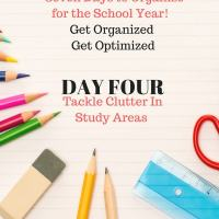 Back to School  Organizing - Study Area Clutter