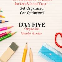Back to School - Organize to Optimize- Study Area - Desk