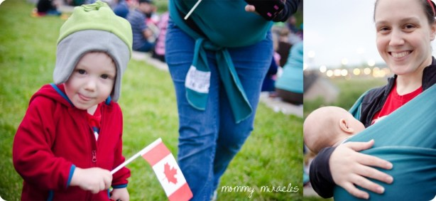 Momming my boys on Canada Day