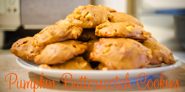 Pumpkin Butterscotch Cookies Header