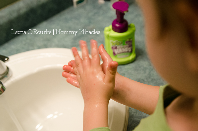 Preschooler Washing Hands
