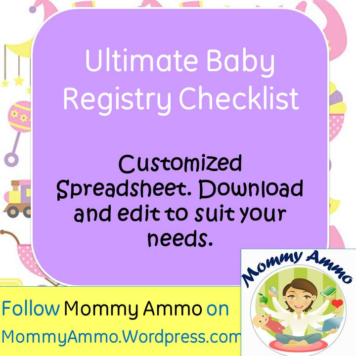 Ultimate Baby Registry Shopping Checklist \u2013 Customizable, Printable