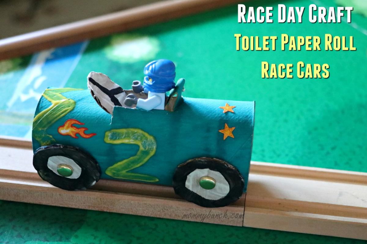 Race Car Crafts For Kids Tutorial Race Day Fun Mommy