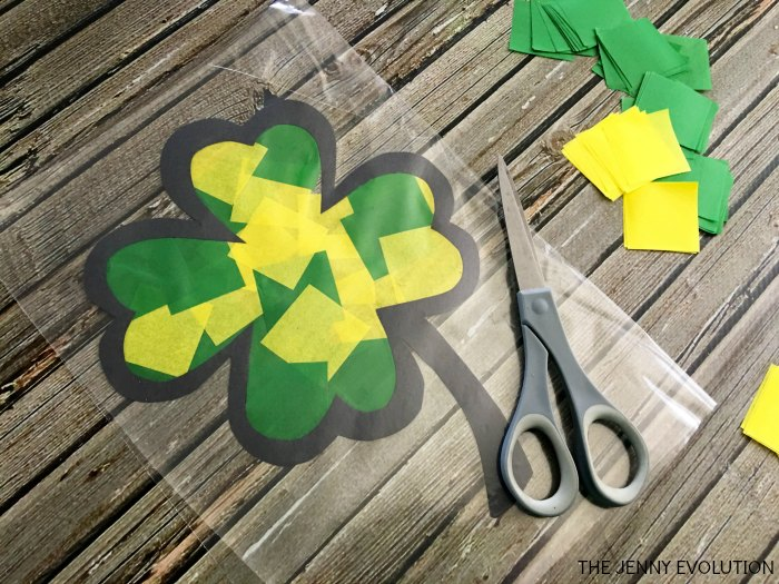 Stained Glass Clover Craft For Kids Mommy Evolution
