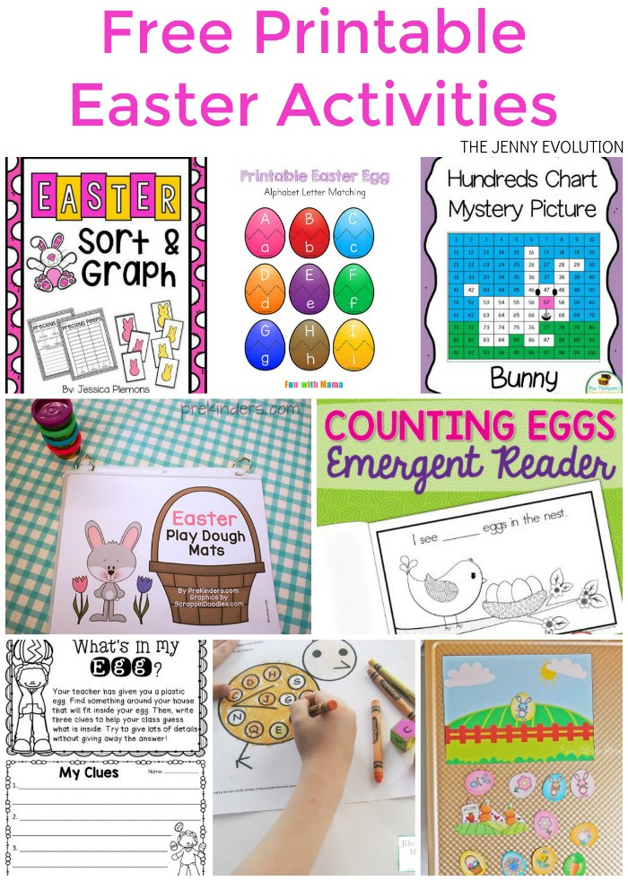 Free Printable Easter Worksheets and Activities Mommy Evolution