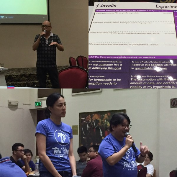 Paul Pajo, Gabe Mercado and Arin were guest speakers at Ideaspace Bootcamp 2016