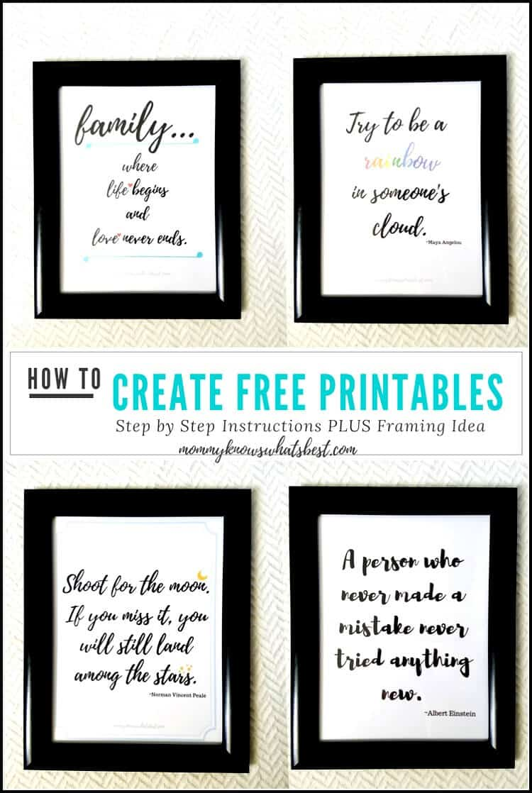 How To Frame Pictures Got Quotes Learn How To Create Printable Quotes To Frame Using Canva