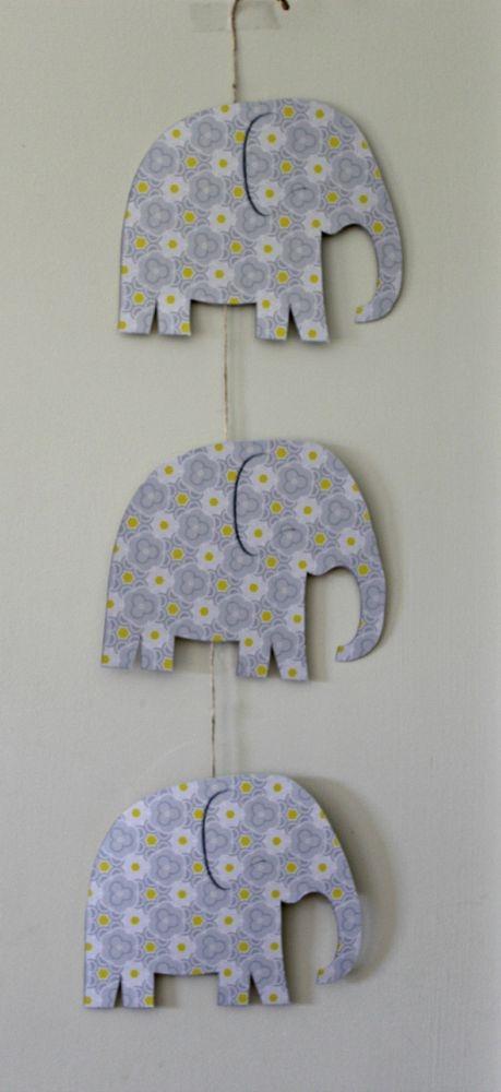 DIY Hanging Elephant Craft - MommyMaleta - elephant cut out template