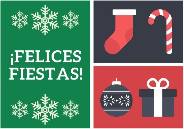 Freebie Christmas Card Printables in Spanish - MommyMaleta