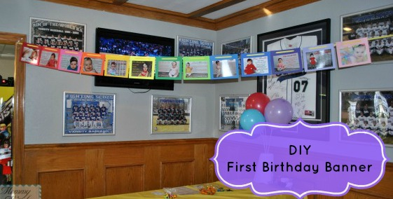 Birthday Bash DIY \u2013 First Birthday Banner \u2013 a must have - first birthday banner