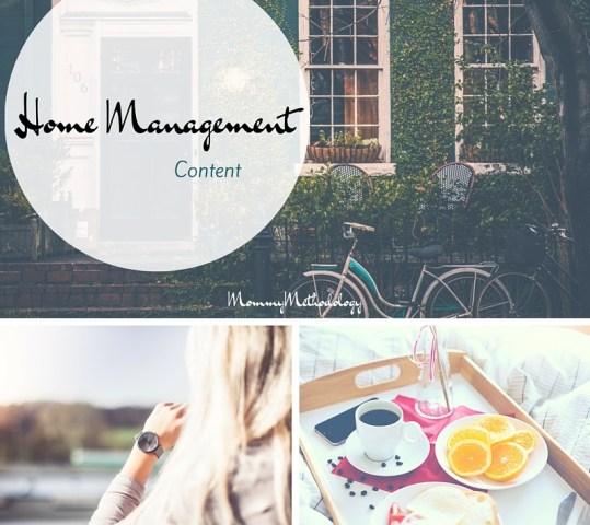 Home Management Content