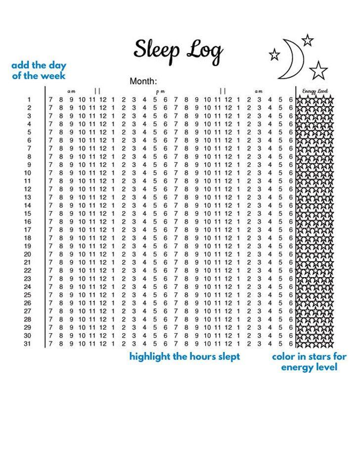 Bullet Journal Sleep Tracker Ideas to CATCH ZZZ\u0027s + FREE Printable