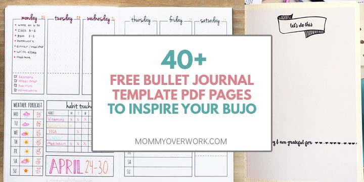 TOP 40+ FREE Bullet Journal Printables for SERIOUS BUJO FANS