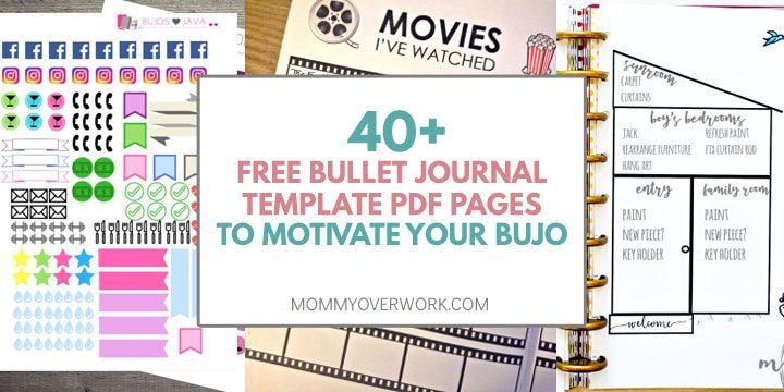 TOP 40+ FREE Bullet Journal Printables for BUJO JUNKIES