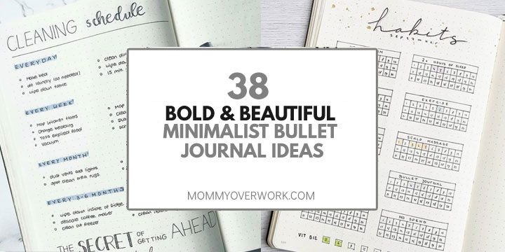 38 BOLD  BEAUTIFUL Minimalist Bullet Journal Logs  Spreads - running title scientific paper