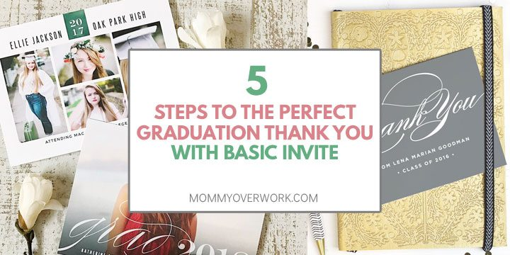 How to Write the PERFECT GRADUATION THANK YOU with Basic Invite