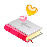 vector icon bible and heart shape