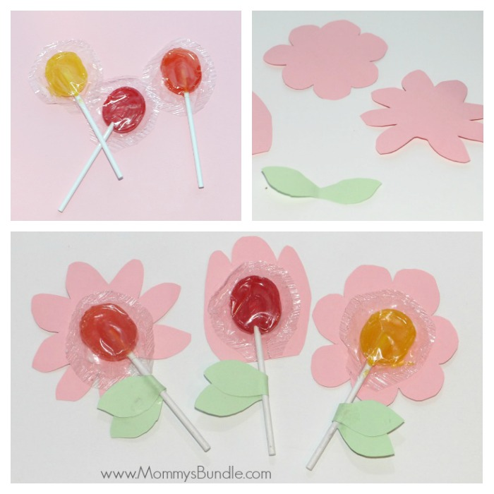 Flower Lollipop Craft  Treat - Mommy\u0027s Bundle