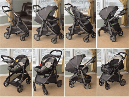 Infant Seat Double Stroller Graco Modes Click Connect Stoller And Carseat Travel System