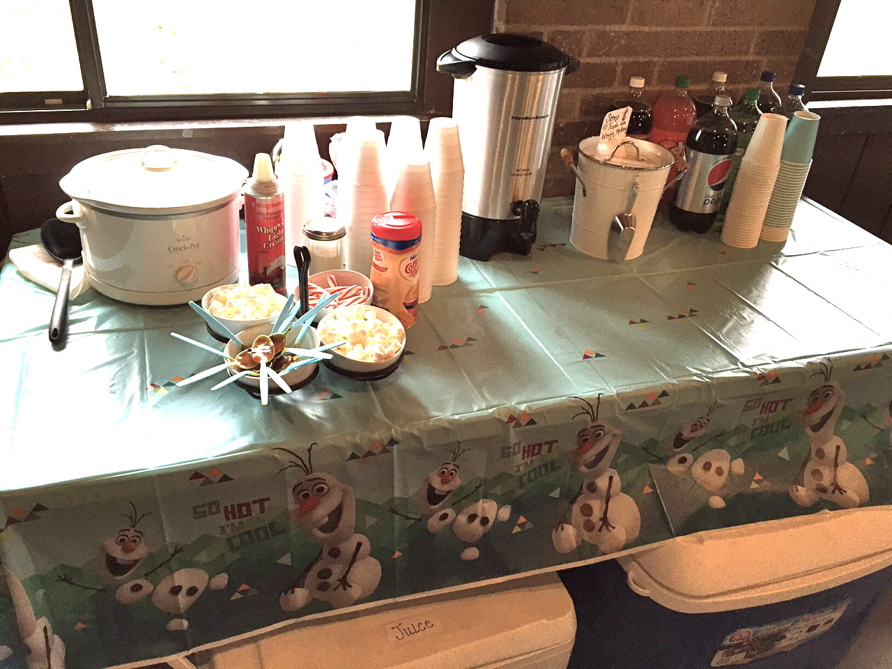 Coffee Bar Ideas For Party Olaf Themed Birthday Party Mommy 39s Front Porch View