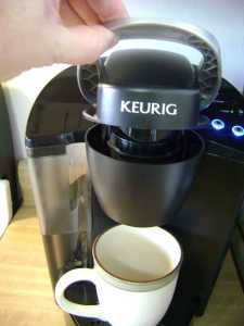 lift the keurig brewer handle